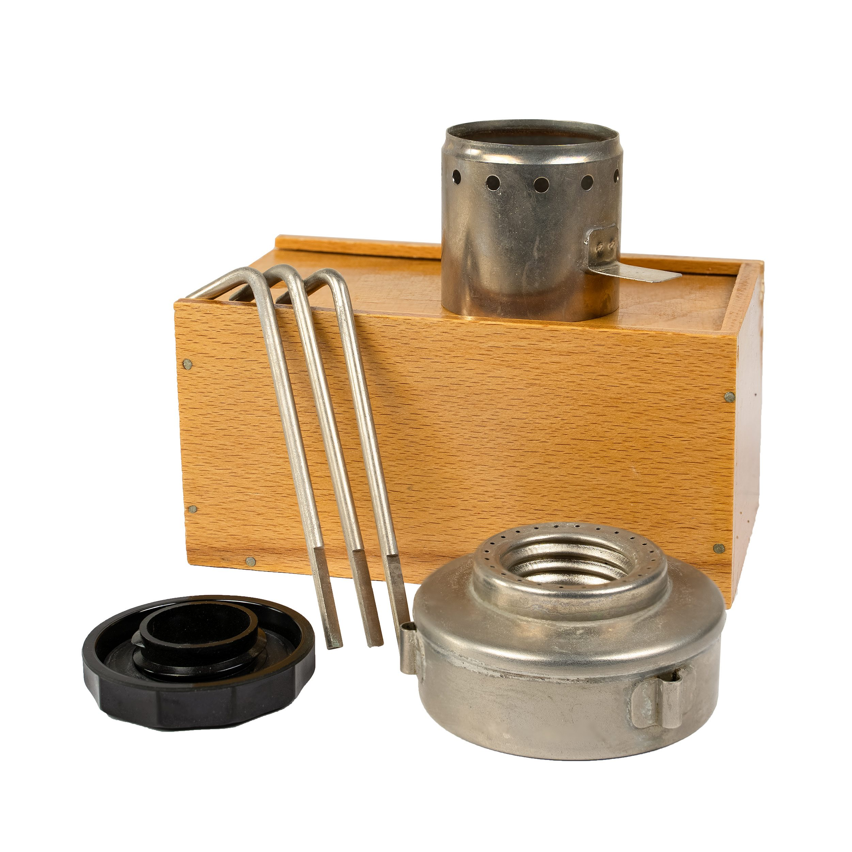 Vařič malý lihový PREMA v dřevěném boxu  8708985-BOX L-11