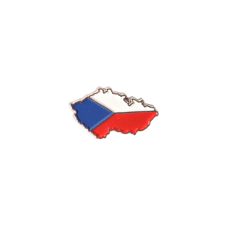 Odznak mapa a vlajka ČR
