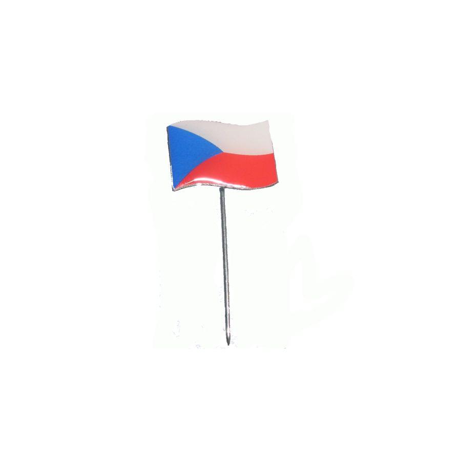 Odznak vlající státní vlajka ČR barevná na špendlíku