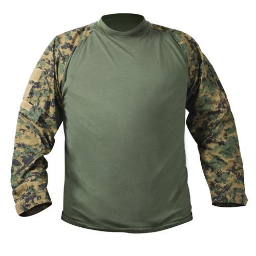 Košile COMBAT taktická DIGITAL WOODLAND MARPAT ROTHCO 90005 L-11