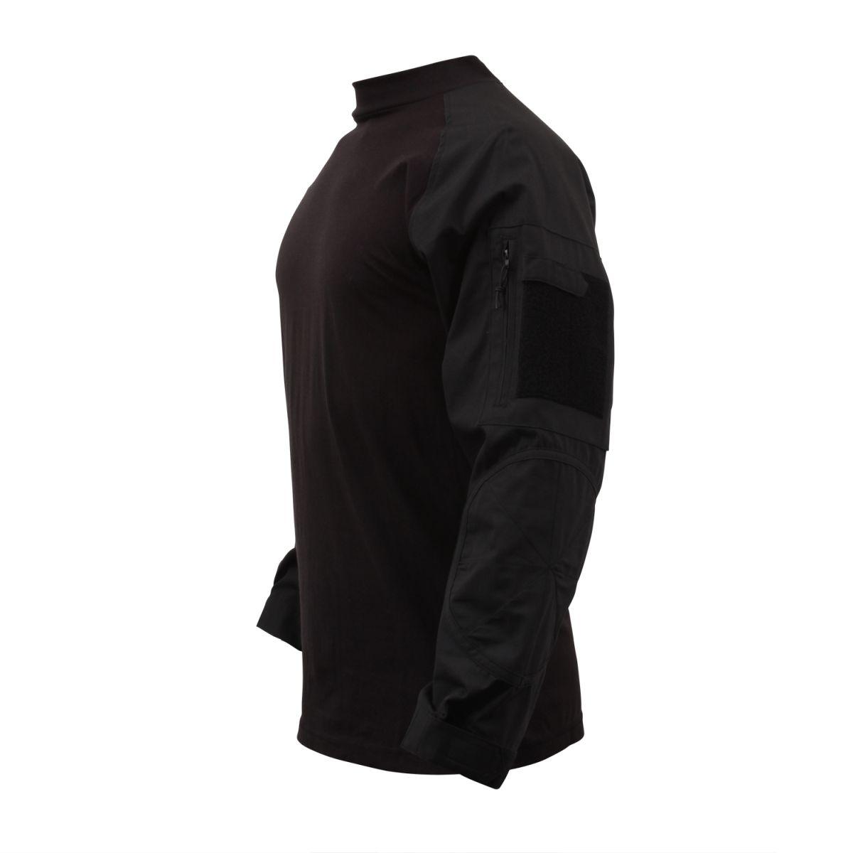 Košile COMBAT taktická ČERNÁ ROTHCO 90010 L-11