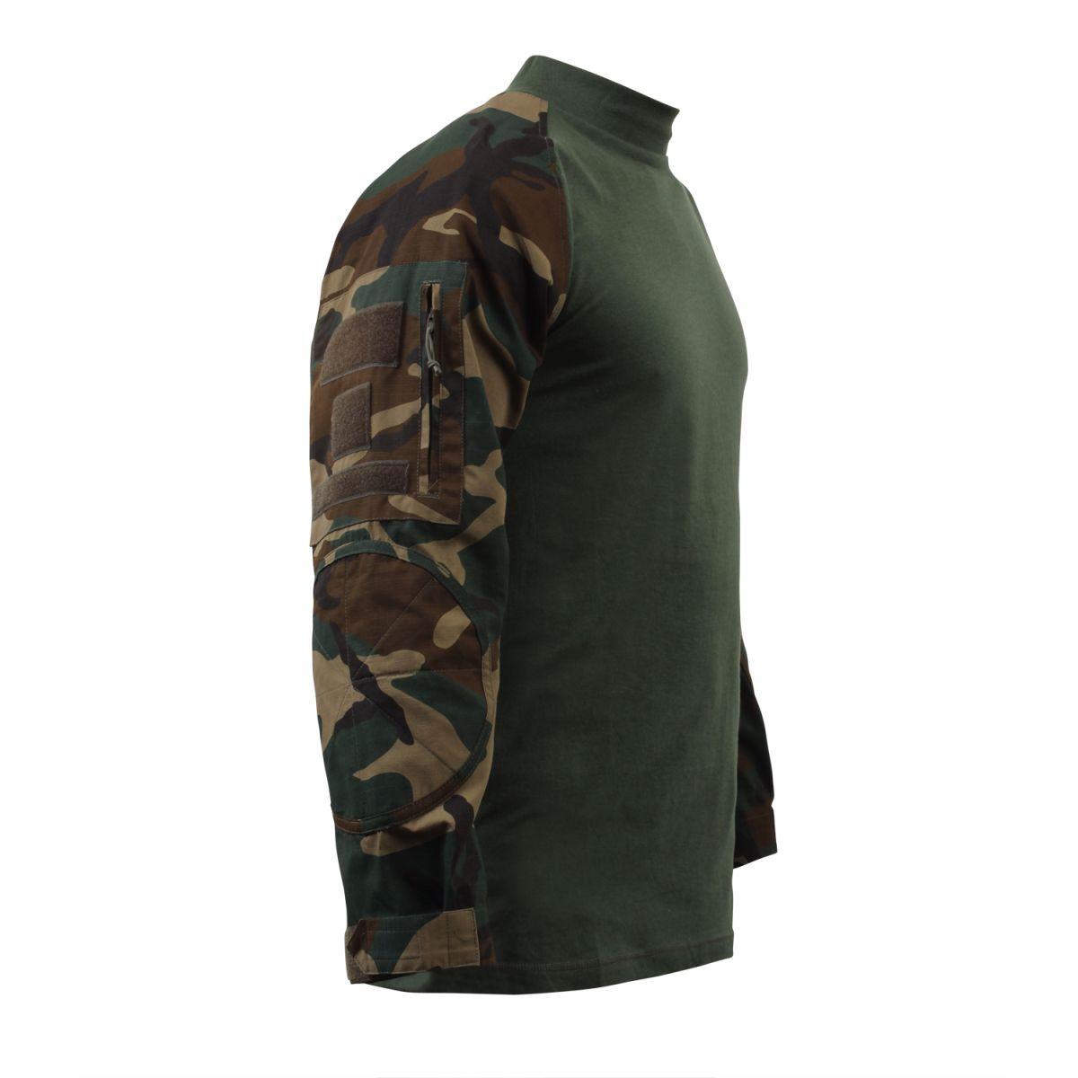 Košile COMBAT taktická WOODLAND ROTHCO 90025 L-11