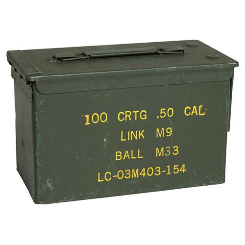 Bedna na munici CAL.50 kovová střední použitá