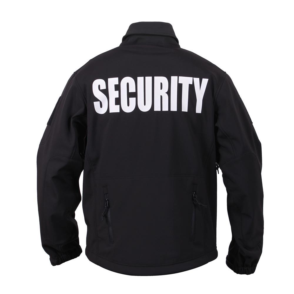 Bunda softshell SECURITY a kapucí ČERNÁ ROTHCO 97670 L-11