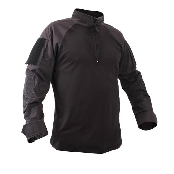 Košile taktická se zipem ČERNÁ ROTHCO 99010 L-11