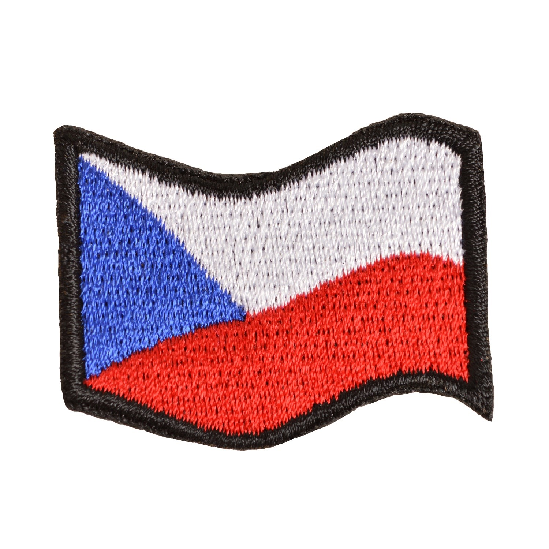 Nášivka ČR vlajka vlající BAREVNÁ