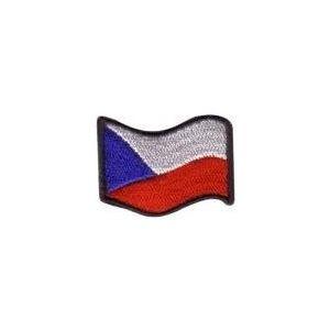 Nášivka ČR vlajka vlající BAREVNÁ (44mm)