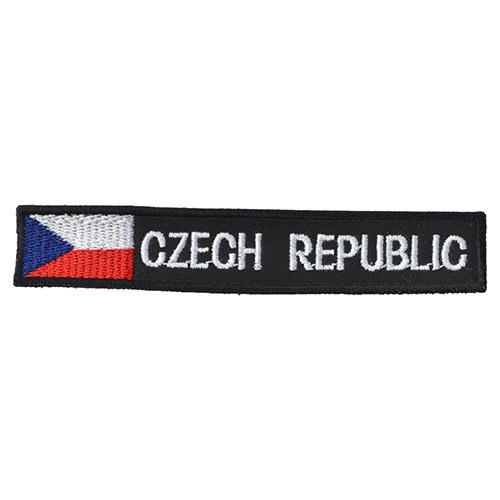 Nášivka CZECH REPUBLIC S VLAJKOU - ČERNÁ