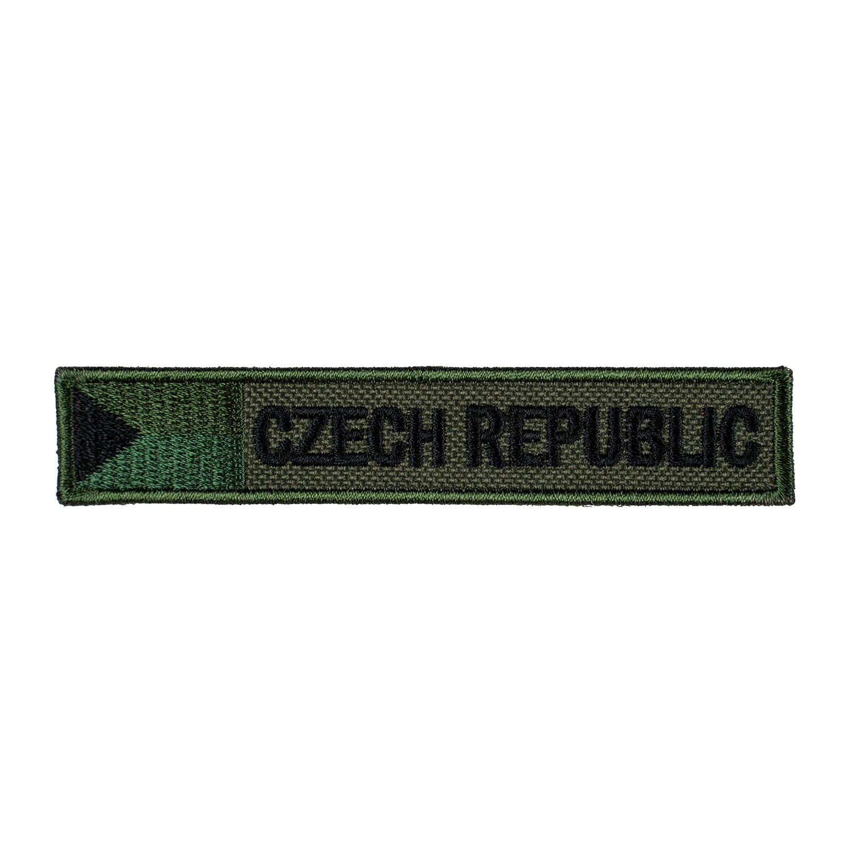 Nášivka CZECH REPUBLIC S VLAJKOU - ZELENÁ