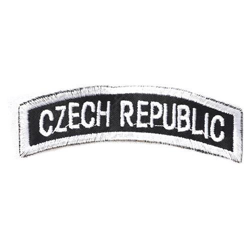 Nášivka oblouček CZECH REPUBLIC - ČERNOBÍLÝ
