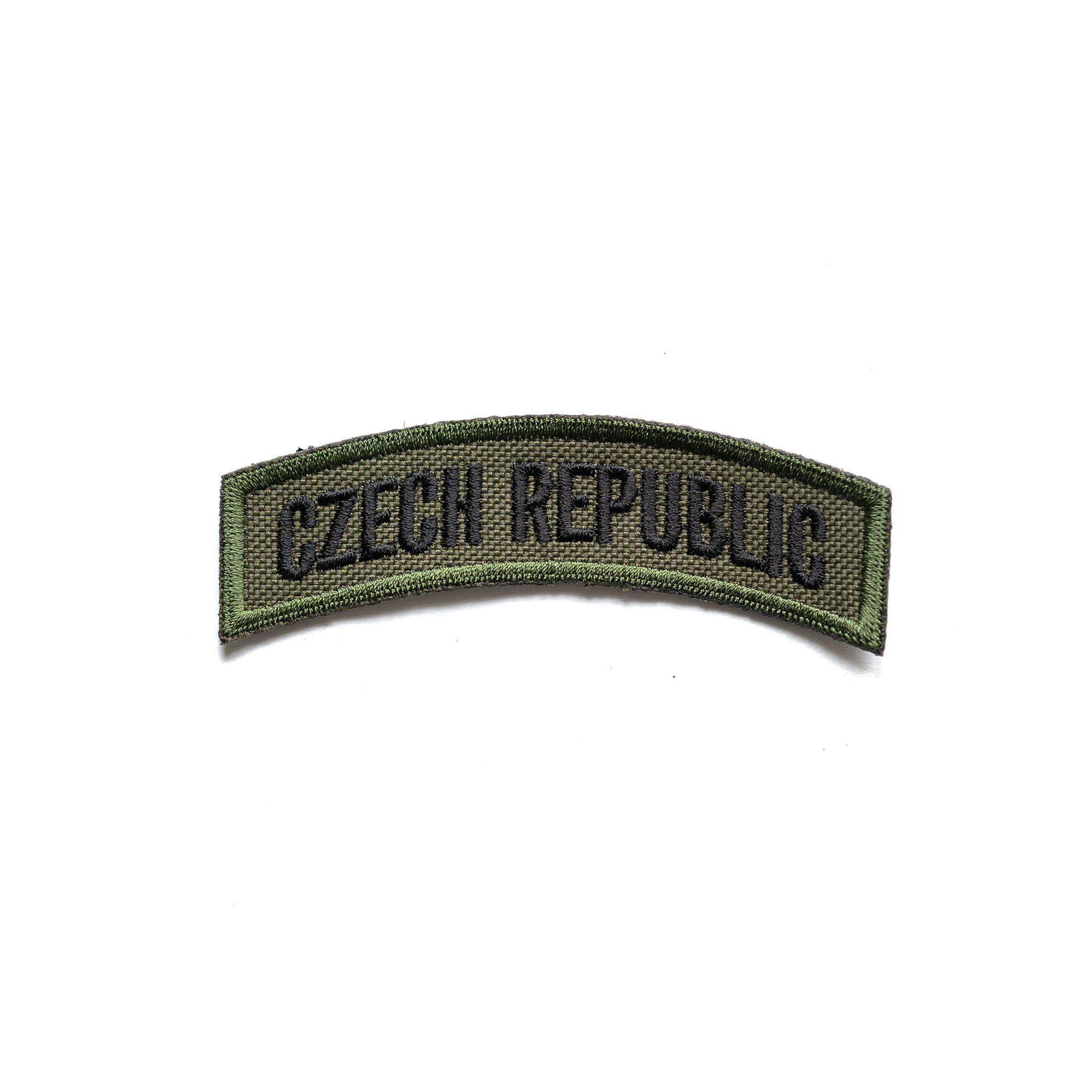 Nášivka oblouček CZECH REPUBLIC - OLIV