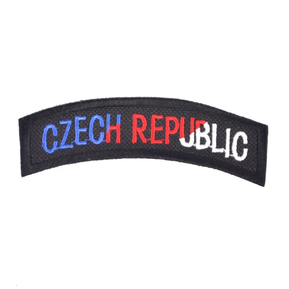 Nášivka oblouček CZECH REPUBLIC - TRIKOLORA