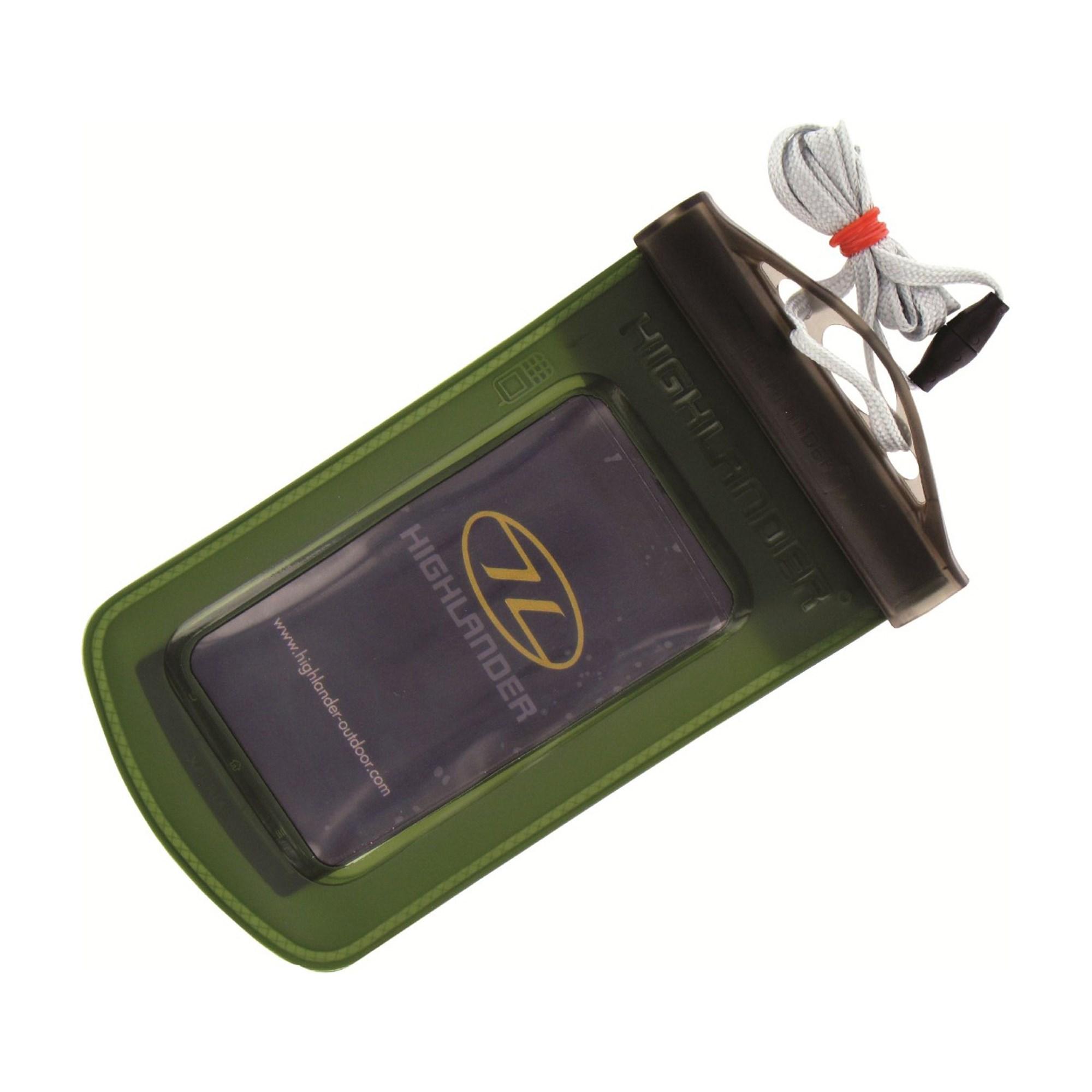 HIGHLANDER | Pouzdro vodotěsné dotykové na mobil 200 x 98 mm ZELENÉ