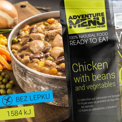 Kuře po zahradnicku s fazolemi - ADM sterilizované hotové jídlo