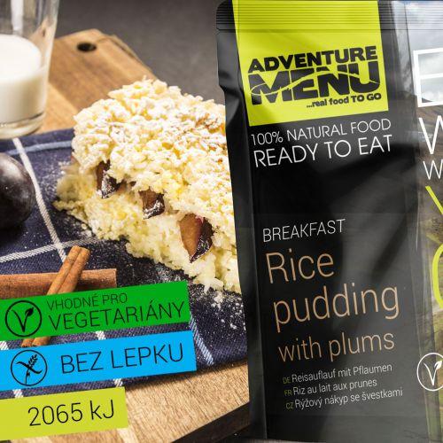 Rýžový nákyp se švestkami - ADM sterilizované hotové jídlo