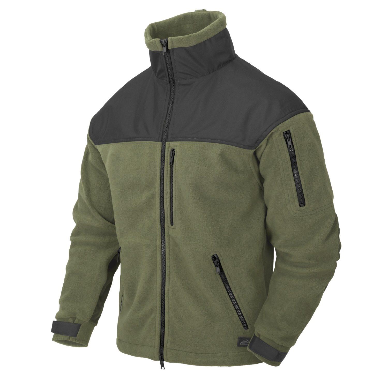 Bunda CLASSIC ARMY fleece ZELENOČERNÁ Helikon-Tex® BL-CAF-FL-16 L-11