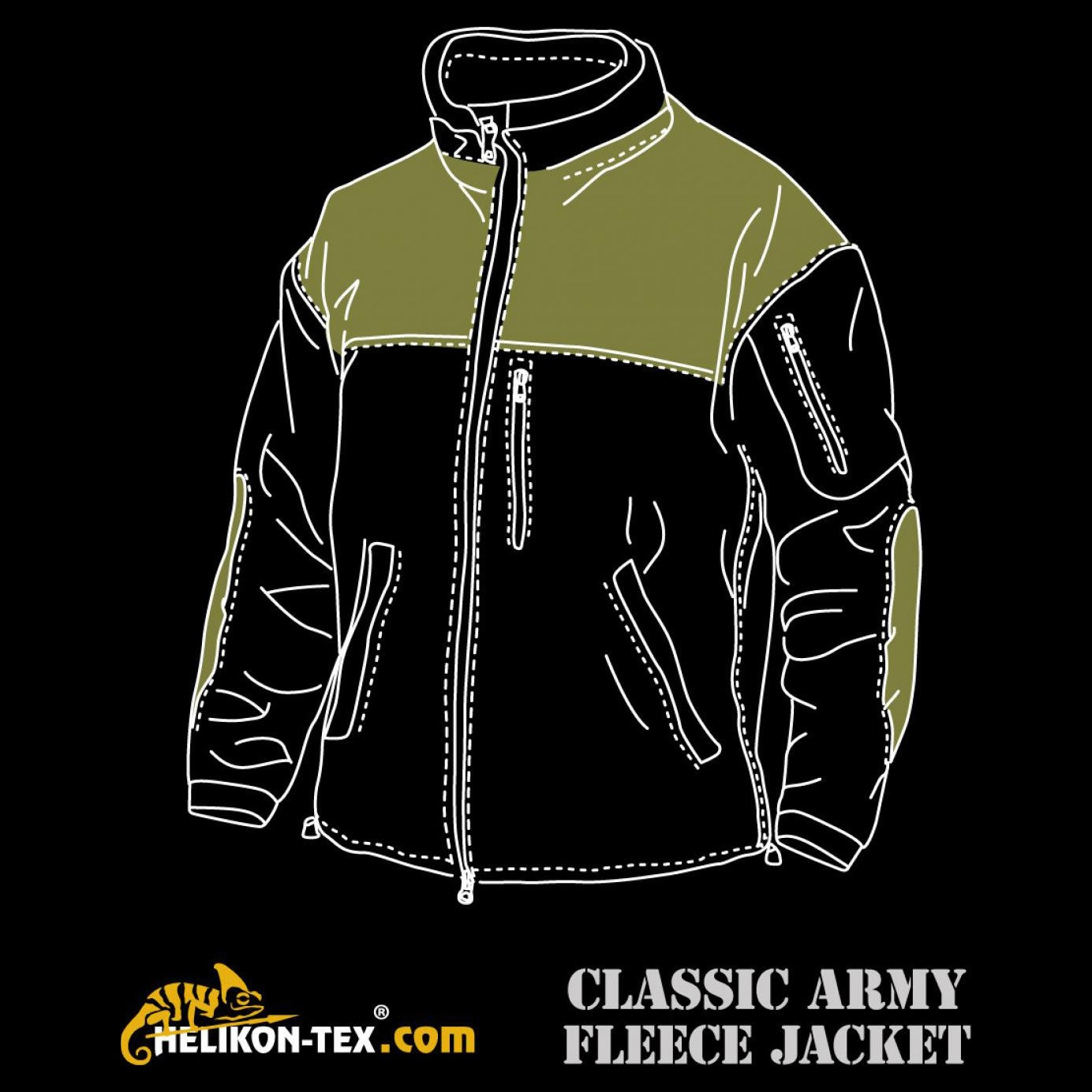 Bunda CLASSIC ARMY fleece COYOTE Helikon-Tex® BL-CAF-FL-11 L-11