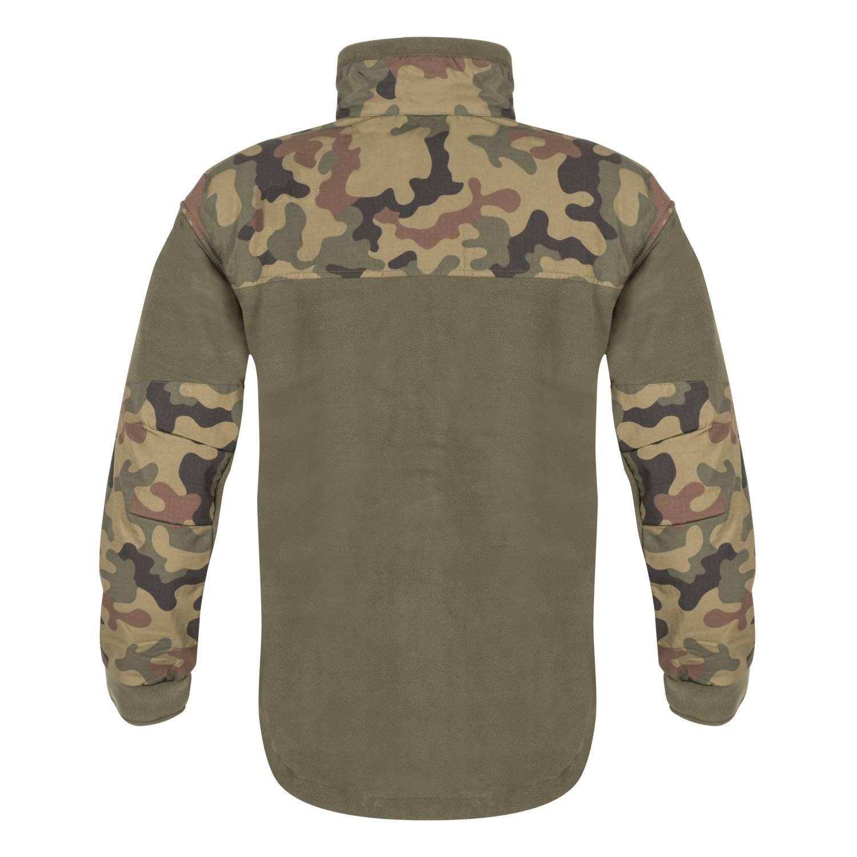Bunda INFANTRY fleece ZELENÁ/WOODLAND POLSKÝ Helikon-Tex® BL-INF-HF-18 L-11
