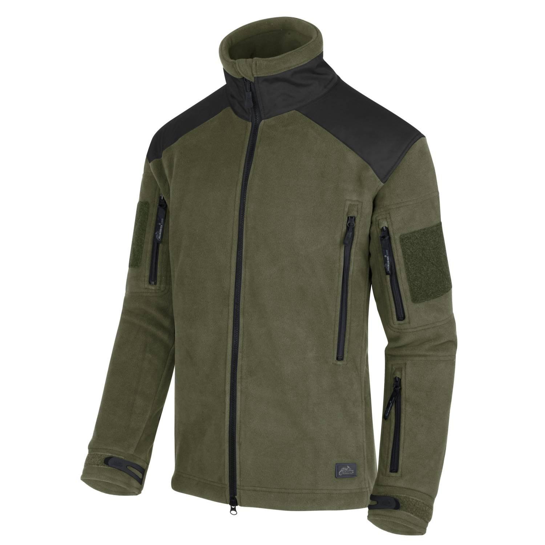 Bunda LIBERTY Heavy fleece ZELENÁ/ČERNÁ Helikon-Tex® BL-LIB-HF-16 L-11