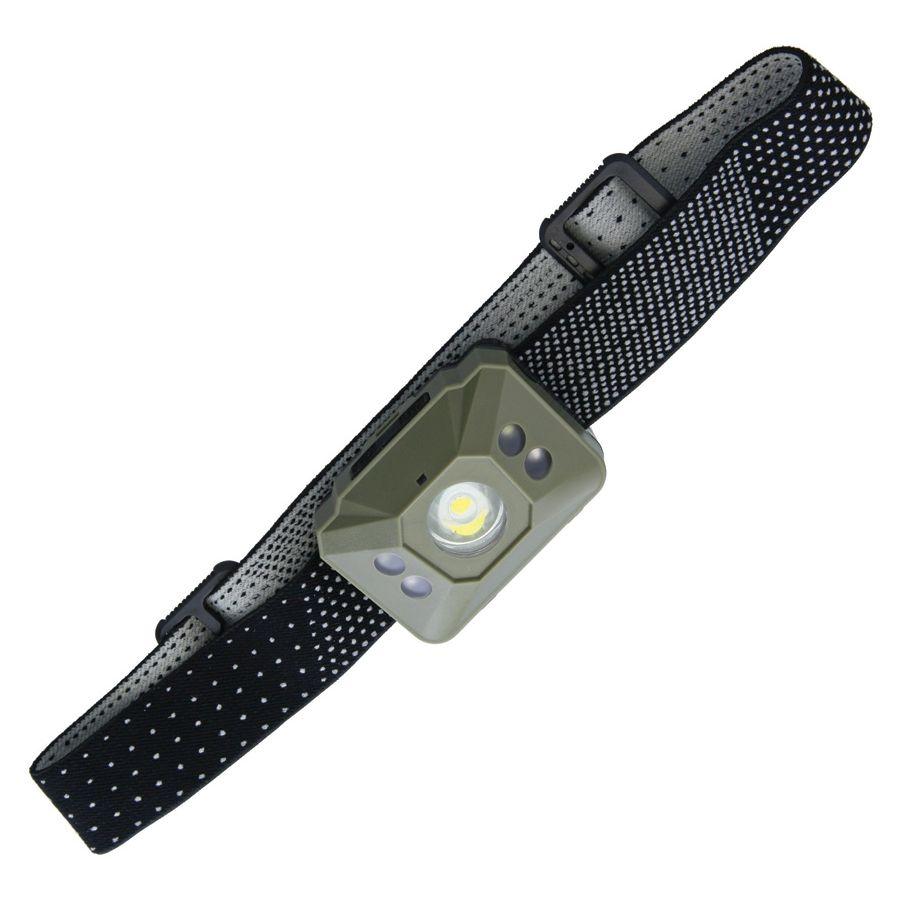 Svítilna čelová BASTION 6 režimů svitu 300 lumenů LED