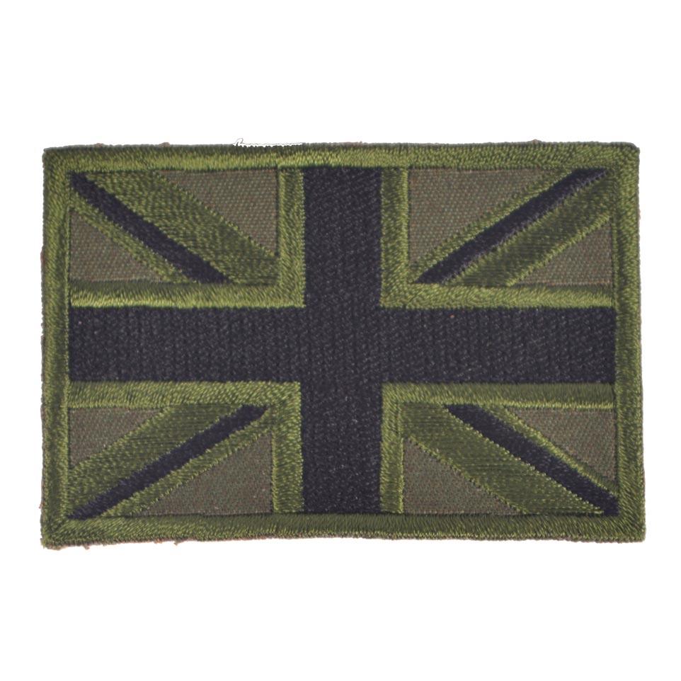 "Nášivka vlajka velká BRITÁNIE""Union JAck"" OLIV"
