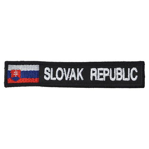 Nášivka SLOVAK REPUBLIC + VLAJKA - BAREVNÁ