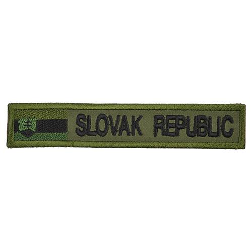 Nášivka SLOVAK REPUBLIC + VLAJKA - OLIV