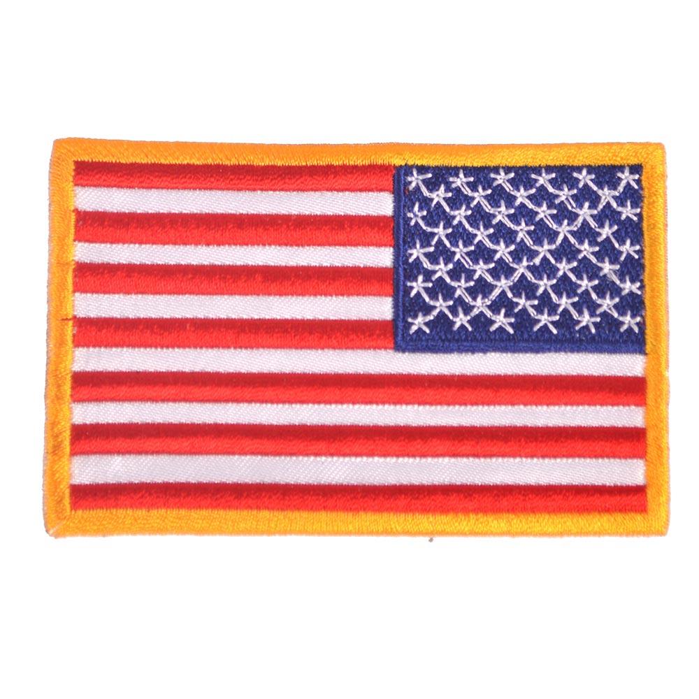 Nášivka vlajka USA reverzní - BAREVNÁ