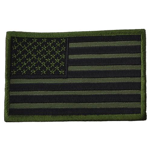 Nášivka vlajka USA bojová - OLIV