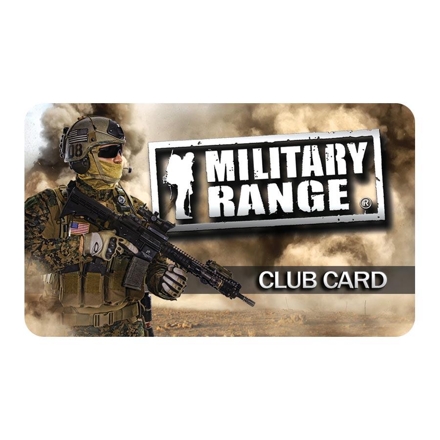 CLUB CARD MILITARY RANGE - tactical MILITARY RANGE club_card_tactical L-11