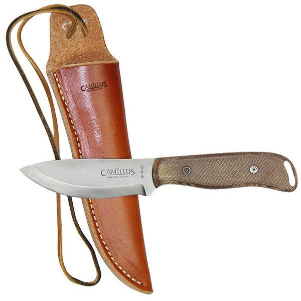 Nůž BUSHCRAFTER s koženým pouzdrem CAMILLUS 19095 L-11