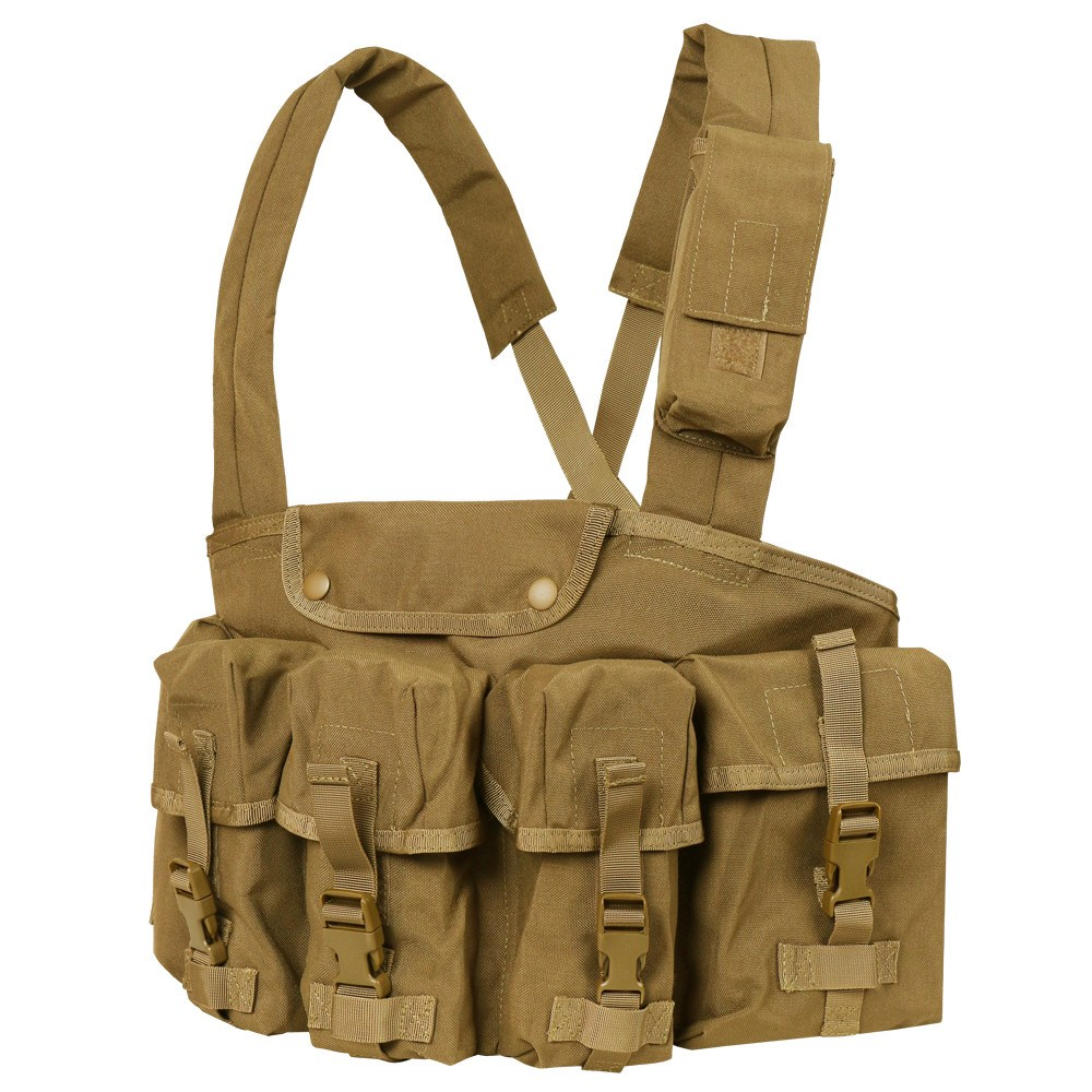 Vesta taktická CHEST RIG 7 kapes COYOTE BROWN