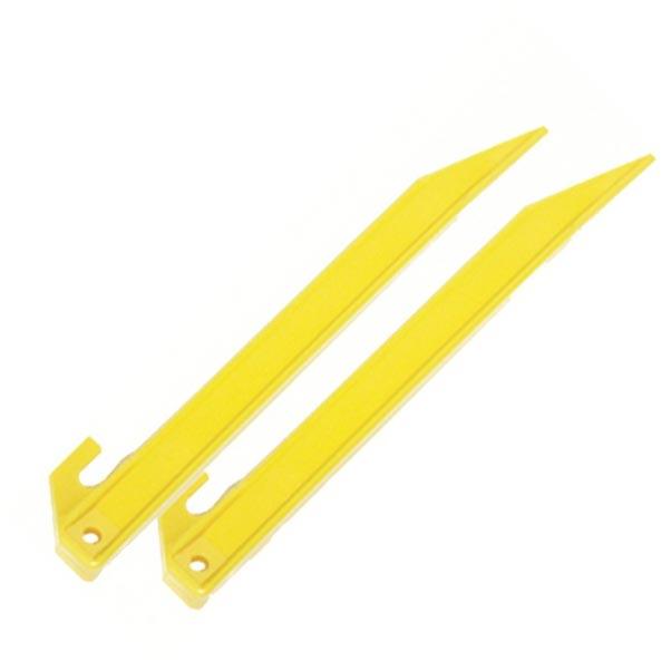 Kolík stanový PLASTOVÝ 21,5 cm 50 ks ŽLUTÝ