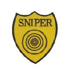 Nášivka SNIPER s terčem - ŽLUTÁ