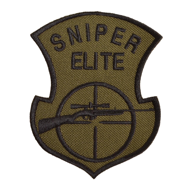 Nášivka SNIPER ELITE s odstřelovací puškou OLIV
