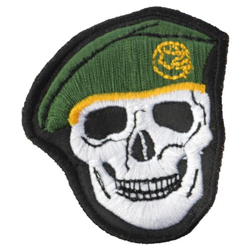 Nášivka LEBKA baret v barvě ZELENÁ