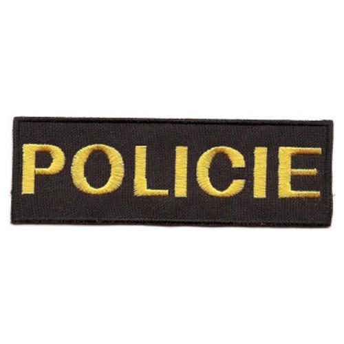Nášivka POLICIE malá ČERNÁ se žlutou nití