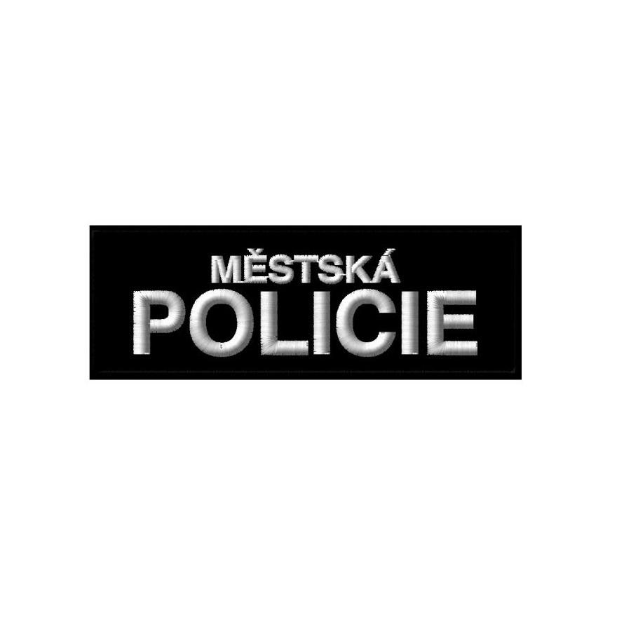 Nášivka MĚSTSKÁ POLICIE malá ČERNÁ