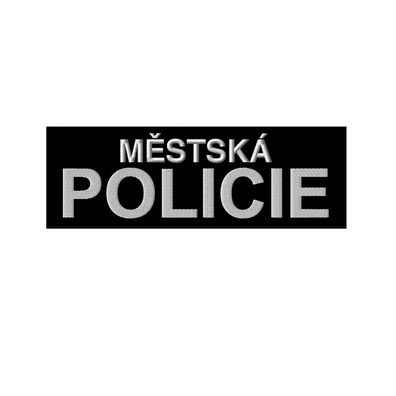 Nášivka MĚSTSKÁ POLICIE velká ČERNÁ