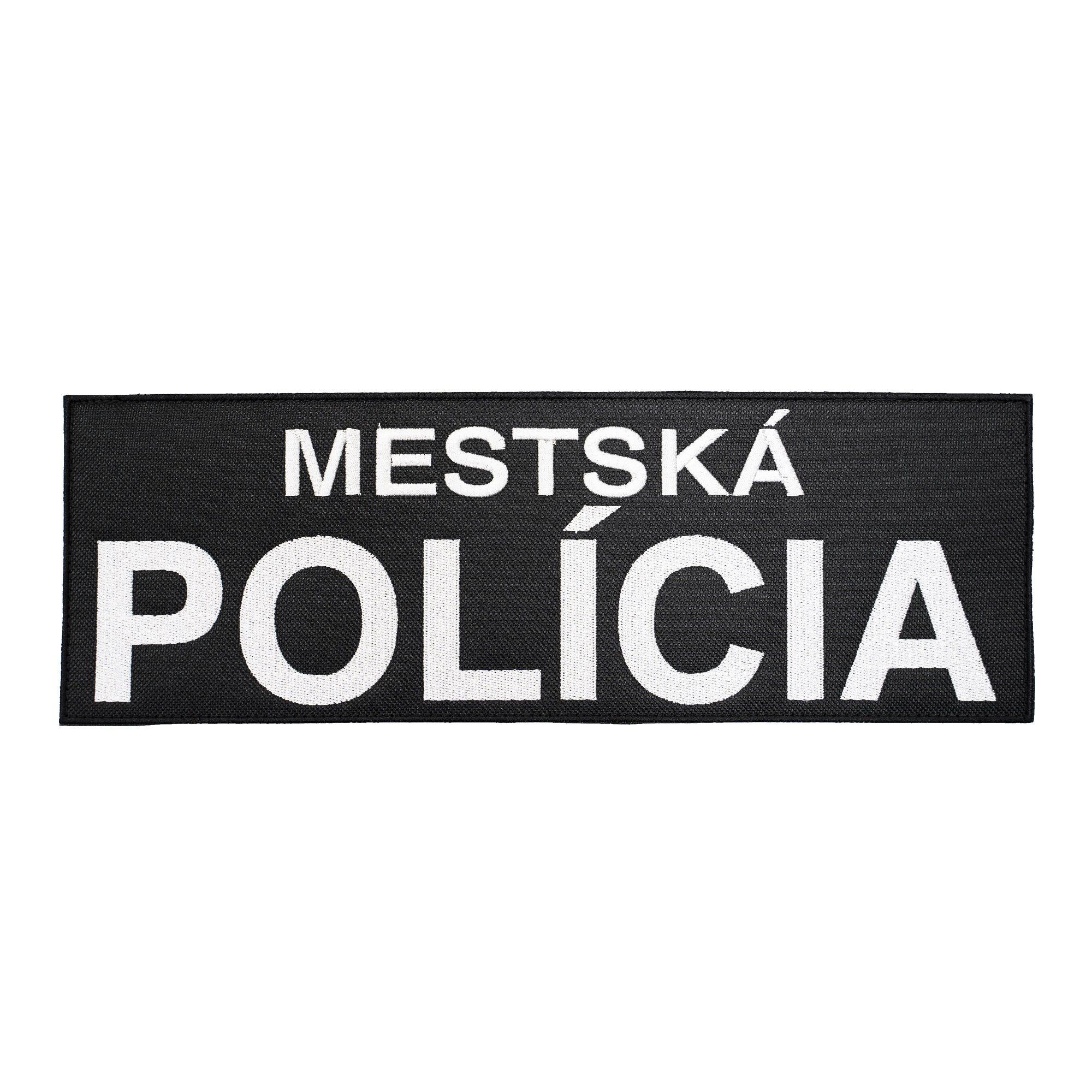 Nášivka MESTSKÁ POLÍCIA velká velcro ČERNÁ