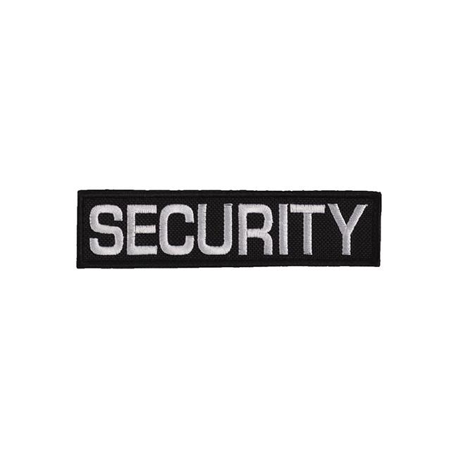 Nášivka SECURITY - ČERNÁ s bílou nití malá VELCRO