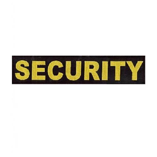 Nášivka SECURITY velká ČERNÁ se žlutou nití