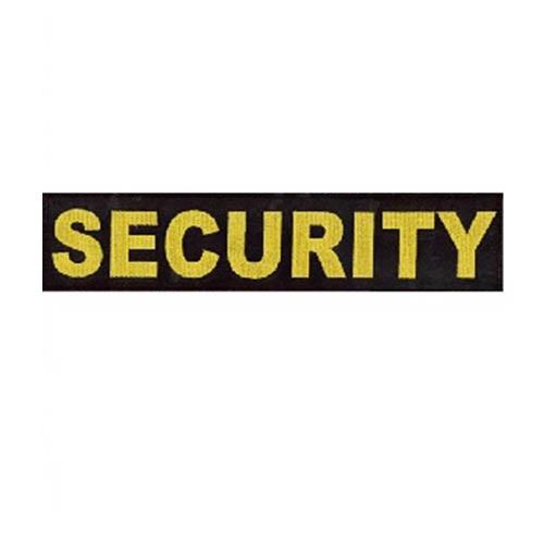 Nášivka SECURITY velká ČERNÁ se žlutou nití VELCRO