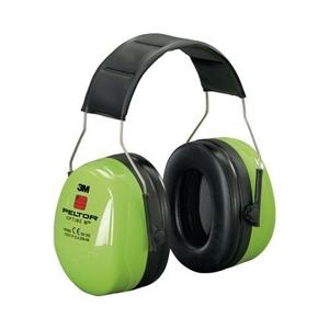 PELTOR | Sluchátka proti hluku PELTOR Optime III REFLEXNÍ ZELENÁ