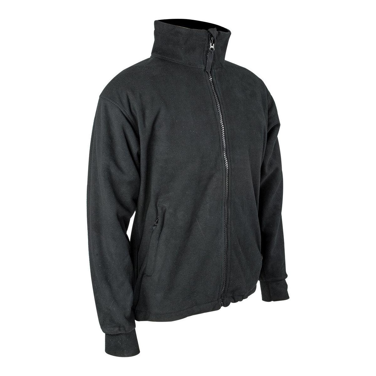 Bunda THOR fleece, vodě a větruodolná membrána ČERNÁ PRO-FORCE JAC010-BK L-11
