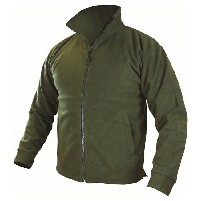 Bunda THOR fleece, vodě a větruodolná membrána ZELENÁ PRO-FORCE JAC010-OG L-11