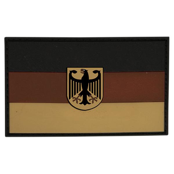 Nášivka vlajka NĚMECKO s orlicí plast DESERT velcro