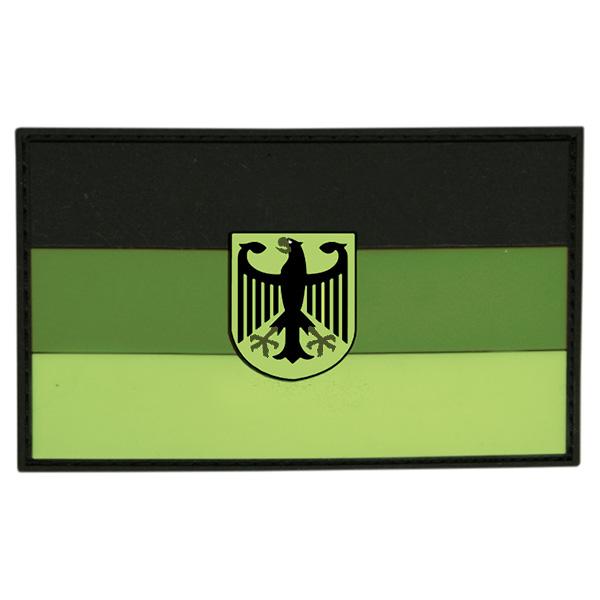Nášivka vlajka NĚMECKO s orlicí plast ZELENÁ velcro