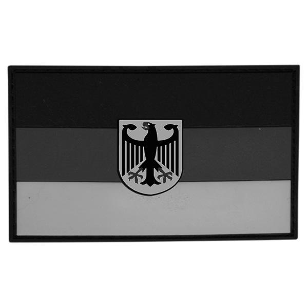 Nášivka vlajka NĚMECKO s orlicí plast ŠEDÁ velcro