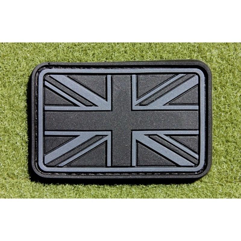 Nášivka vlajka velká BRITÁNIE velcro plast ČERNÁ